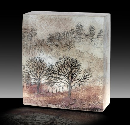 Kate Pasvol, Trees in the Mist (Square)