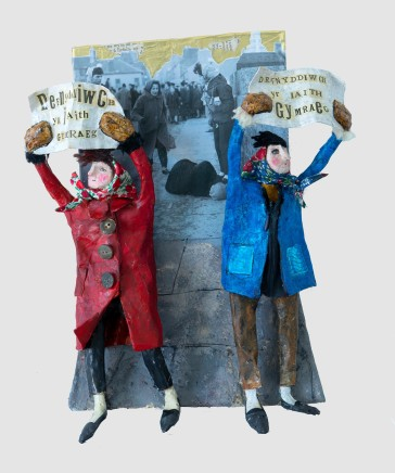 Luned Rhys Parri, Protest yn Aberystwyth / Protest in Aberystwyth