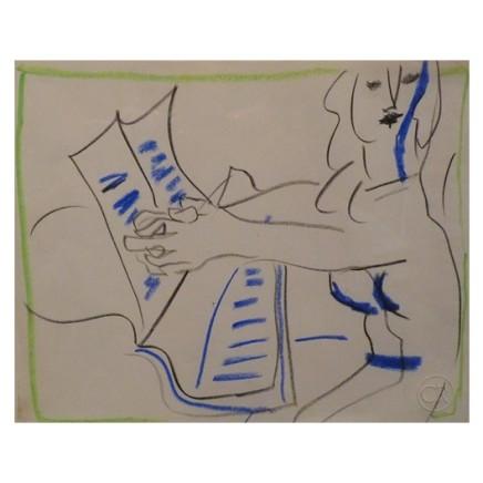 Ceri Richards, Woman at Piano, c1967