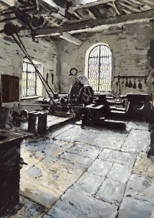 Matthew Wood, National Slate Museum, Llanberis - Water Powered Lathe