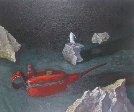 Kim Dewsbury, Still Life with Red Oil Can I