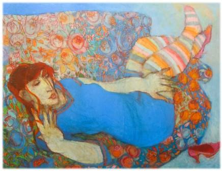 Mihangel Jones, Blue