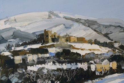 Sarah Carvell, Denbigh Castle in Snow