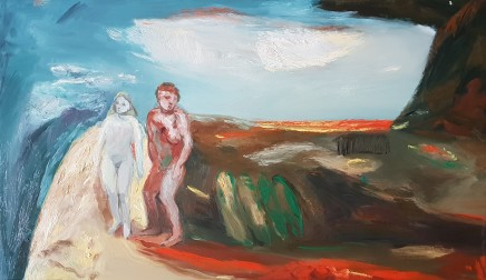 Maurice Cockrill, Two Figures, 1987