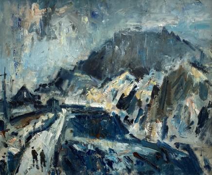 Gareth Parry, Y Grib Goch o Chwarel Dinorwig, Gaeaf / Crib Goch from Dinorwig Quarry, Winter