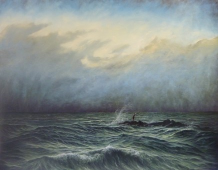 Gerald Dewsbury, On the rocks now, Monsieur Courbet!