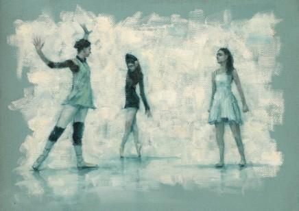 Carl Chapple, 'Lady Capulet, Cerys & Juliet' - BethMeadway, Danila Marzilli & Maria Brunello rehearsing Romeo a Juliet (Ballet Cymru Rehearsal 165)