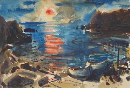 Gareth Parry, Bae Bach, Machlud, Llŷn / Little Bay, Sunset, Llŷn