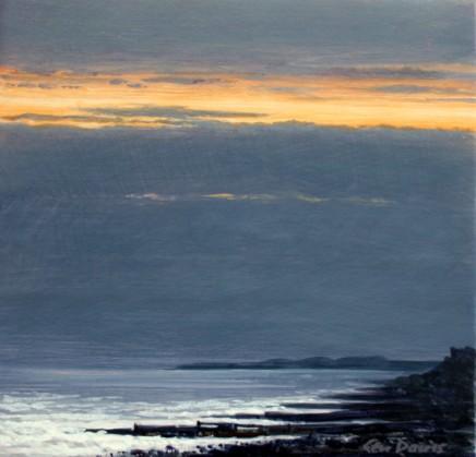 Ceri Auckland Davies, Sunset (Criccieth Beach)
