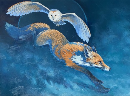 Colin See-Paynton, Nocturnal Encounter II - Fox and Owl