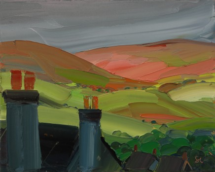 Sarah Carvell, Denbigh Chimneys, Stormy Light