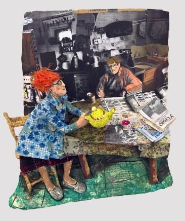 Luned Rhys Parri, 'Y Cymro' ar y Bwrdd / 'Y Cymro' on the Kitchen Table