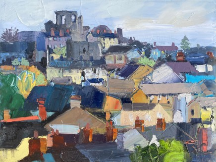 Sarah Carvell, Denbigh Castle above the Rooftops