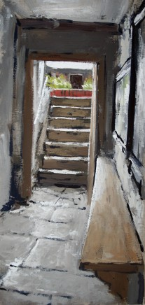 Matthew Wood, Staircase to the Garden with distant Gate