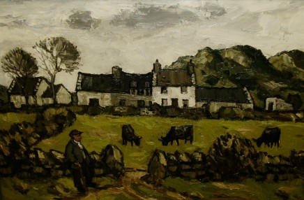 Kyffin Williams, Farm and Outbuildings, c1970s