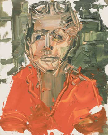 Sarah Carvell, Self Portrait in Orange
