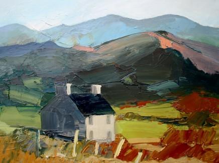 Sarah Carvell, Bwthyn Gwag ar Llwybr yr Arfordir / Empty Cottage on the Coastal Path