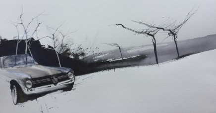 Dewi Tudur, Alfa Giulia ger y Coed / Alfa Giulia near Trees