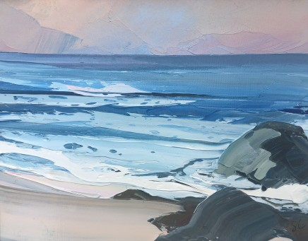 Sarah Carvell, Pink-Grey Light, Calm Seas