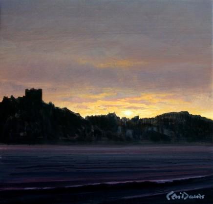 Ceri Auckland Davies, Sunset (Criccieth Castle)