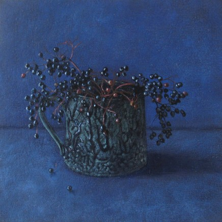 Kim Dewsbury, Elderberries on Blue