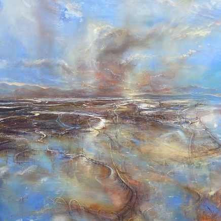 Iwan Gwyn Parry, The Receding Tide at Barmouth Sands