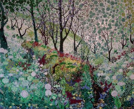 Katie Allen, Woodland Log, Spring