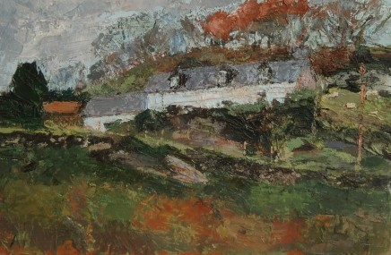 Anne Aspinall, Farm on the Hill, by Borth y Gest