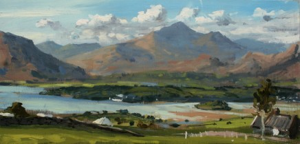 Matthew Wood, Snowdon and Portmeirion from the South West