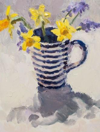 Lynne Cartlidge, Spring Flowers in a Striped Mug