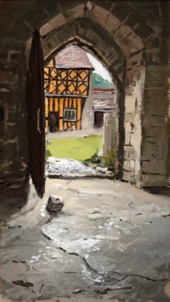 Matthew Wood, Stokesay Castle. View to the Gathhouse from the Hall
