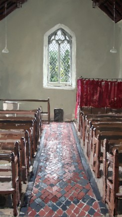 Matthew Wood, St Anno's Church, Llananno - View to a Window