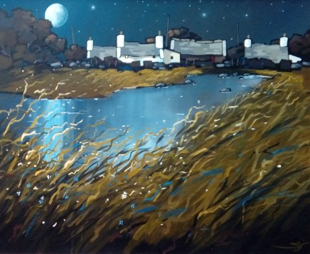 Stephen John Owen, Moonlit Pond