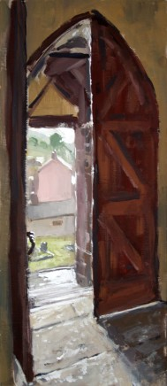 Matthew Wood, Llanbister, St Cynllo. Spring Light through the Main Entrance