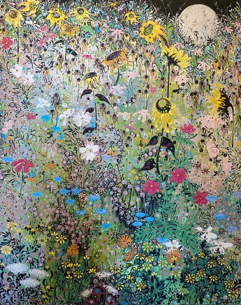 Katie Allen, Moonlit Garden, Late Summer