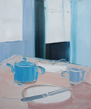 Sarah Carvell, Brecwast a Tebot Las / Breakfast with Turquoise Teapot