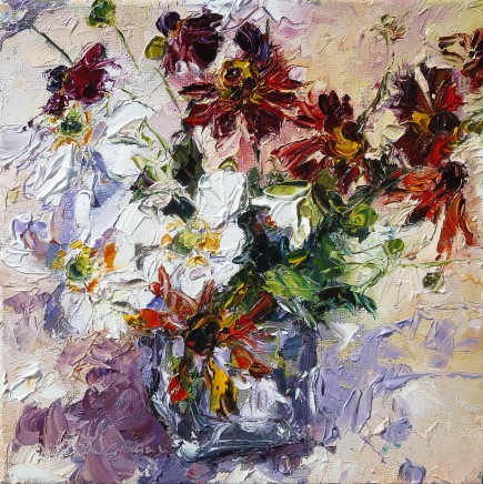 David Grosvenor, Japanese Anemones and Heleniums