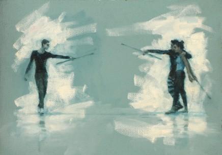 Carl Chapple, 'Tybalt, Romeo & Mercutio' - Oliver Wilkinson-Smith, Miguel Fernandes & Krystal Lowe rehearsing Romeo a Juliet (Ballet Cymru Rehearsal 169)