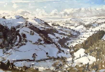 Matthew Wood, Rhiw Valley (near Berriew) Snow