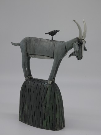 Anna Noel, White Horned Goat with Crow