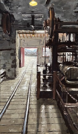 Matthew Wood, Welsh Slate Museum, Llanberis - Bench Saw and Railway Line