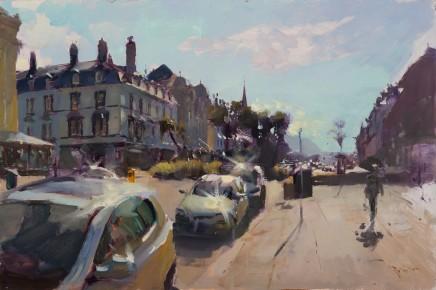 Rob Pointon, Sunlight bouncing off cars, Gloddaeth Avenue, Llandudno