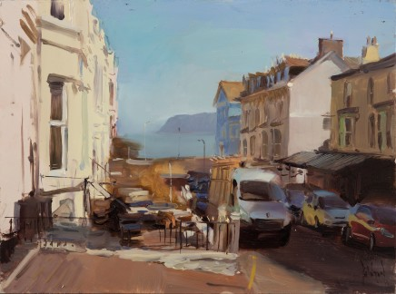 Rob Pointon, Looking down a sun bleached street to the Little Orme, Llandudno