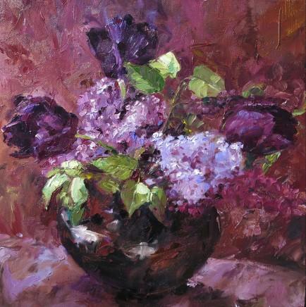 David Grosvenor, Tulips and Lilac Blossom