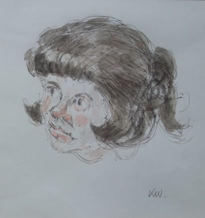 Kyffin Williams, Portrait of a School Girl, c1996