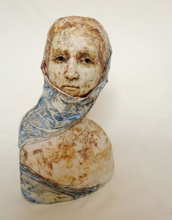 Sharon Griffin, Woman with a Blue Headscarf
