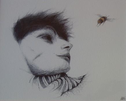 Dewi Tudur, Diwrnod Gwyntog a Cacwn / Windy Day with Bee