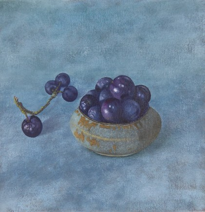 Kim Dewsbury, Sloes in a Wooden Bowl