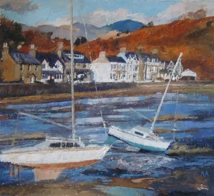 Anne Aspinall, November Sunlight, Borth y Gest