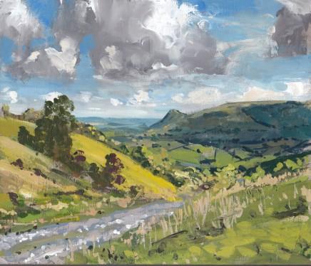 Matthew Wood, Llandinam Hill from the West